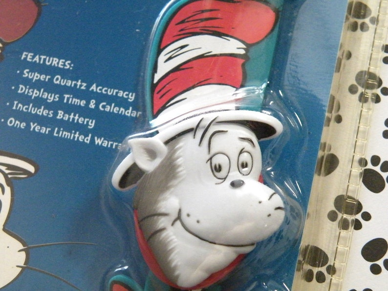 885d8cb7 Vintage Dr. Seuss Cat in the Hat Watch Sealed Package Digit | Etsy