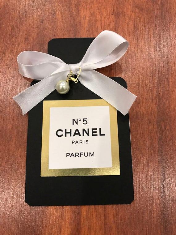 Invitación De Chanel Etsy