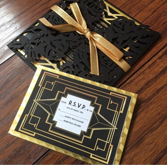 The Great Gatsby RSVP card