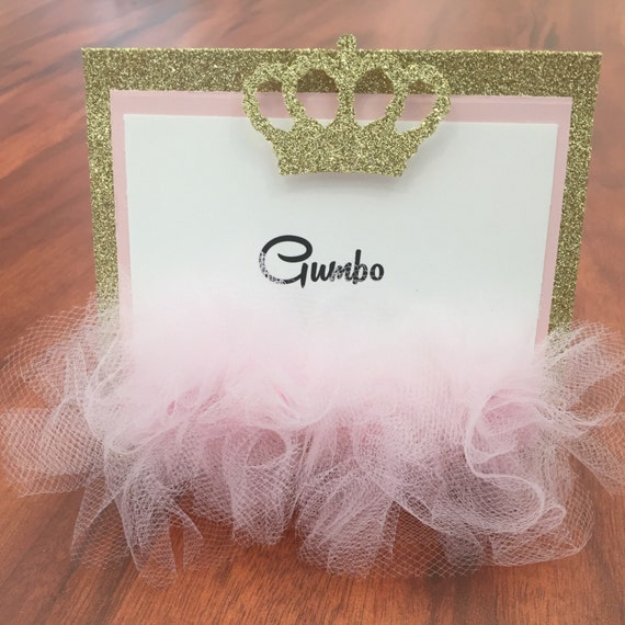 Ballerina Tent Cards