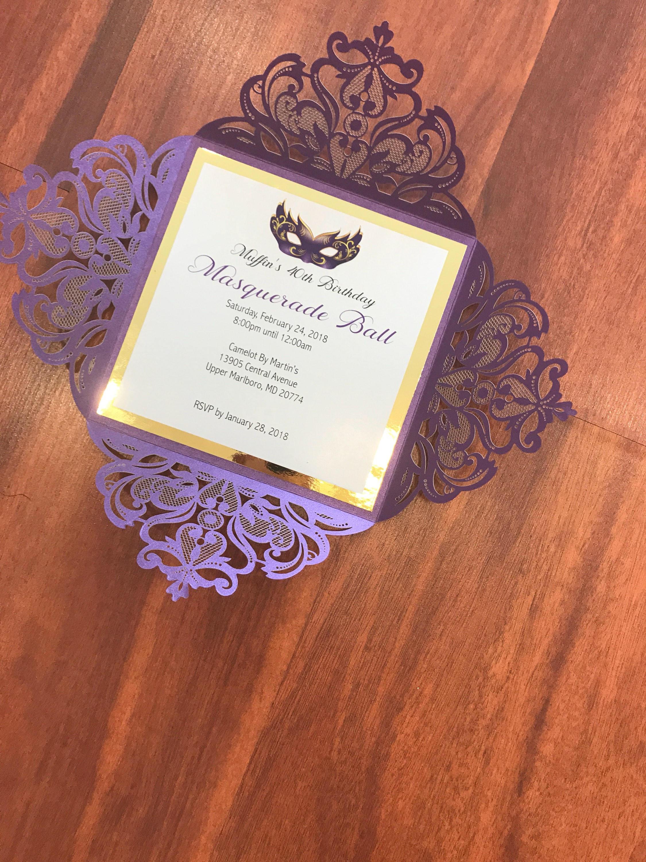 mardi gras masquerade invite rsvp menu cards