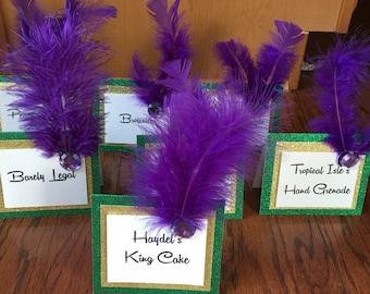 Mardi Gras Table Cards