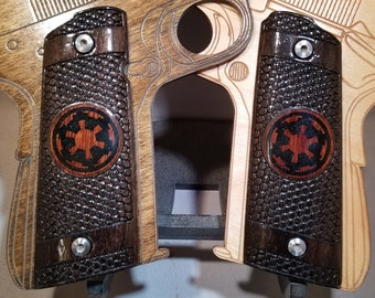 Full size 1911 grips With Inlaid Star Wars EMPIRE logo