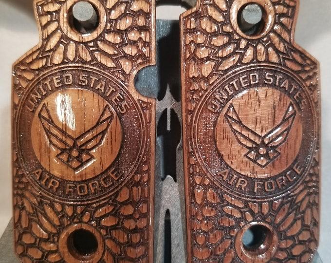 Sig Sauer P938 US AIR FORCE and Kryptek Walnut engraved Grips