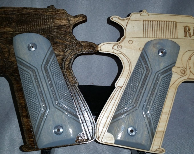 Geometic/Syborg Sci-fi Engraved Full size 1911 grips
