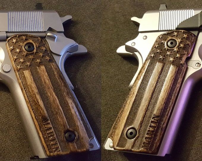 Custom Engraved FULL SIZE 1911 grips