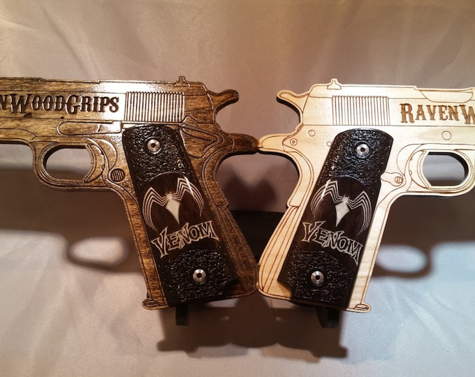 1911 Full Size VENOM inlaid Grips