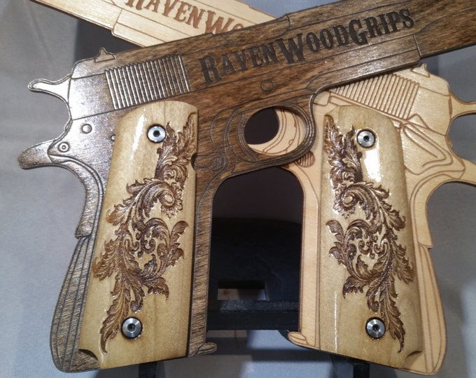 1911 FULL SIZE Fancy Scrollwork engraved grips