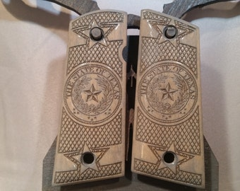 1911 Compact TEXAS STATE SEAL grips