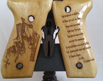 Boondock Saints Veritas Aequitas  engraved Beretta M9/92FS Grips