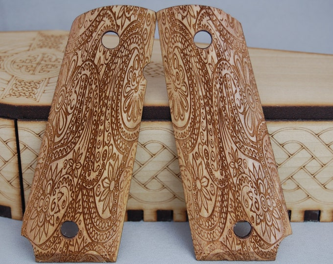 Paisley engraved 1911 Grips