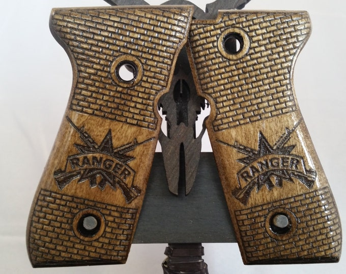 United States Army Rangers engraved Beretta M9/92FS grips