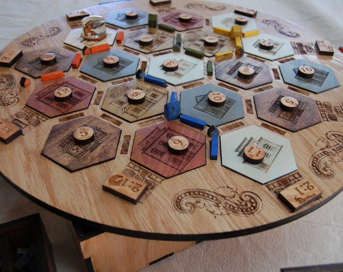 Old West Settlers of Catan Board Game (COMPLETE)