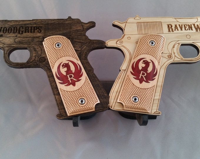 1911 Full Size RUGER LOGO inlaid Grips