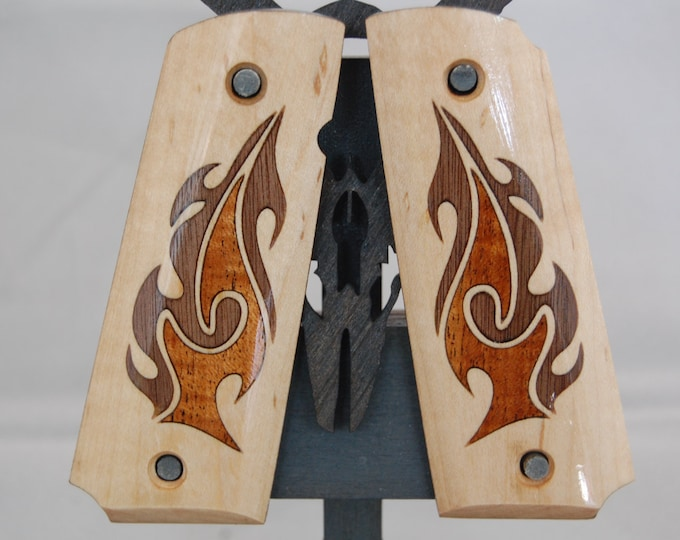 1911 Full Size Inlaid Flame Grips
