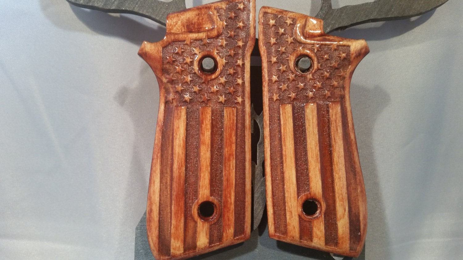 Taurus PT99 with Decock Grips with USA flag engraving