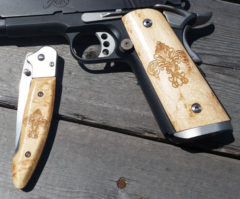 Folding Blade Pocket Knife with handles to match your custom image 0