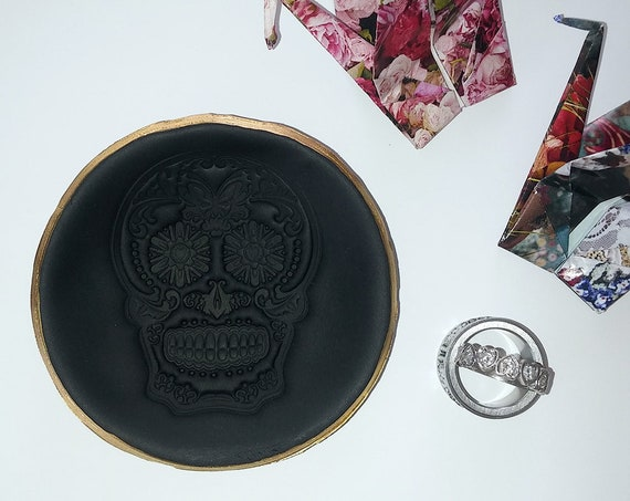Day of the Dead / Sugar Skull Ring Dish