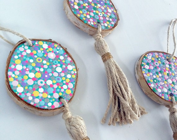Colorful Polka Dot Wall Tassel