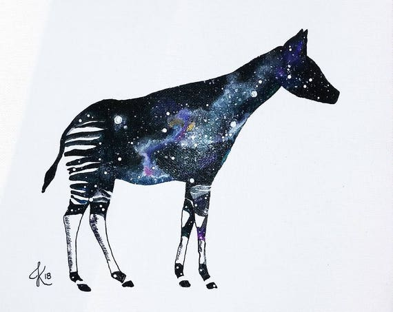 Custom Cosmic Okapi Painting