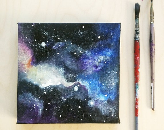 Galaxy Painting || Galaxy Art || Cosmic Wall Art ||  Space Painting || Celestial Decor || Cosmic Decor
