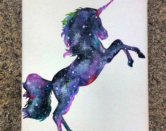 Custom Unicorn Galaxy Painting || Wall Art || Mythical || Nursery Art || Unicorn Painting || Baby Room || LuLaRoe Art