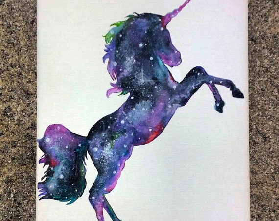 Custom Cosmic Unicorn Painting