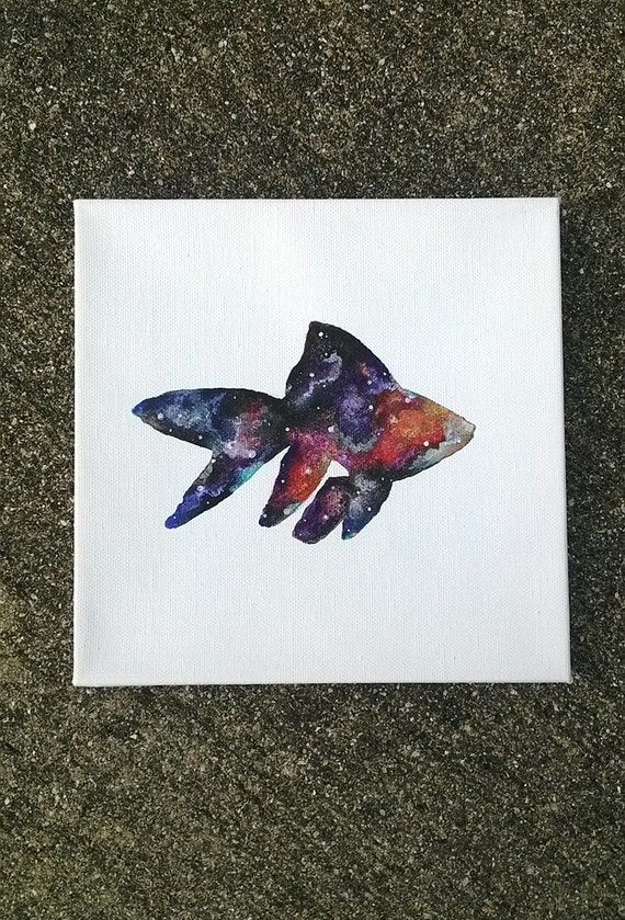 Custom Cosmic Goldfish Painting