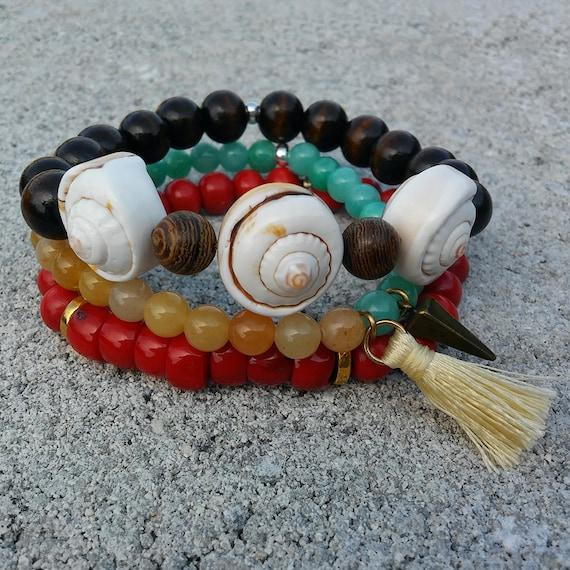 Soul Stack - DRIFT || 3 Pc Beaded Bracelet Stack