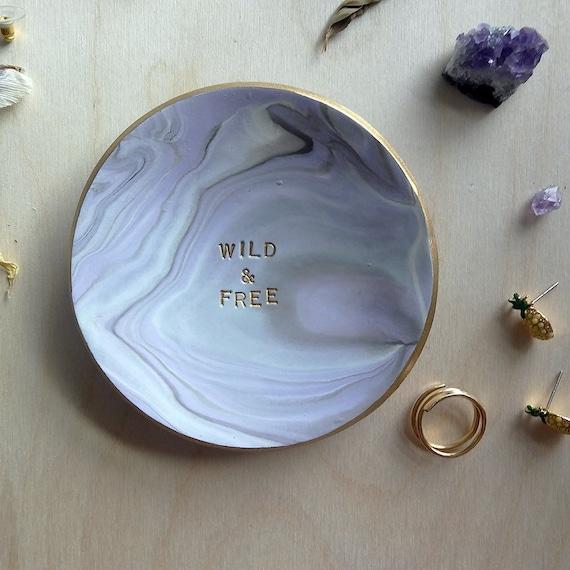 Wild + Free Marbled Swirl Ring Dish
