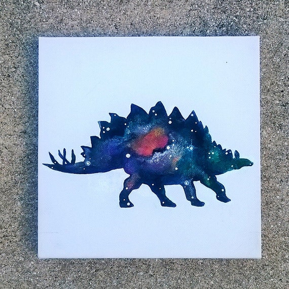 Custom Cosmic Stegosaurus Painting