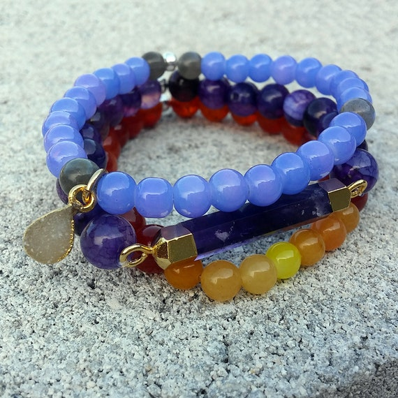 Soul Stack - DAYBREAK || 3pc Beaded Bracelet Stack