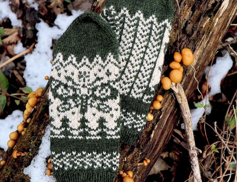 PDF Pattern Antheraea; moth nature MITTEN knitting pattern; digital download