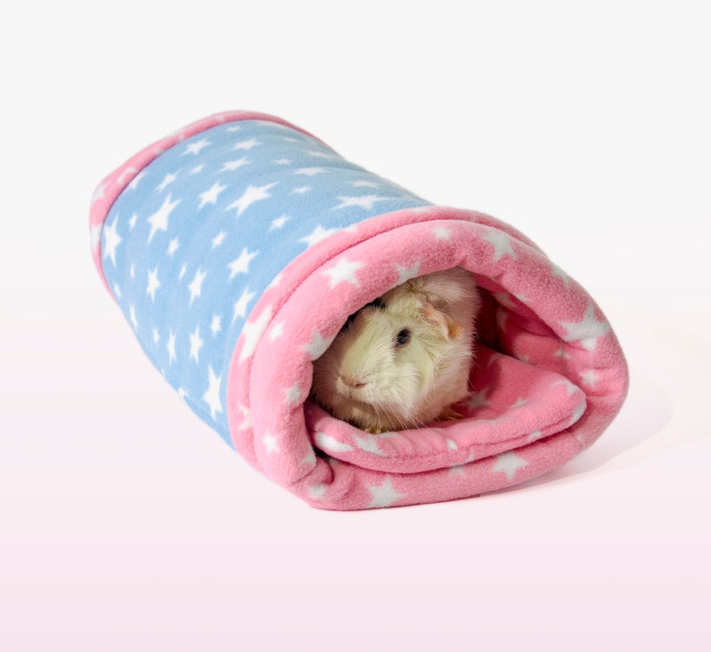 Cottonsqueakers\u00ae TREMENDOUS TUNNEL Guinea Pig Small Animal Fleece Accessory Tube Bed Cosy Sock Squishy Plush