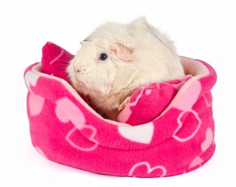 Cottonsqueakers® CUDDLE CUP Guinea Pig Small Animal Fleece Accessory Bed Cosy Sofa