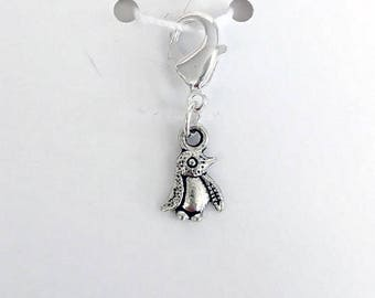 Penguin Progress Keeper, Knitting Marker, Crochet Stitch Marker, Removable Stitch marker, Zipper Pull for your Project Bag