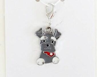 Scottie Dog Progress Keeper, Knitting Marker, Crochet Stitch Marker, Removable Stitch marker, Zipper Pull for your Project Bag