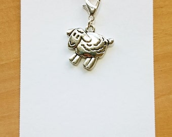 Sheep Progress Keeper, Knitting Marker, Crochet Stitch Marker, Removable Stitch marker, Zipper Pull for your Project Bag