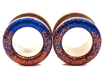 0g 1116 12 Copper Sparkle Plugs  16g 34 8g 00g 1 inch  Handmade Ear Gauges  Bridesmaid 916 4g 2g 78 6g 716 58 10g