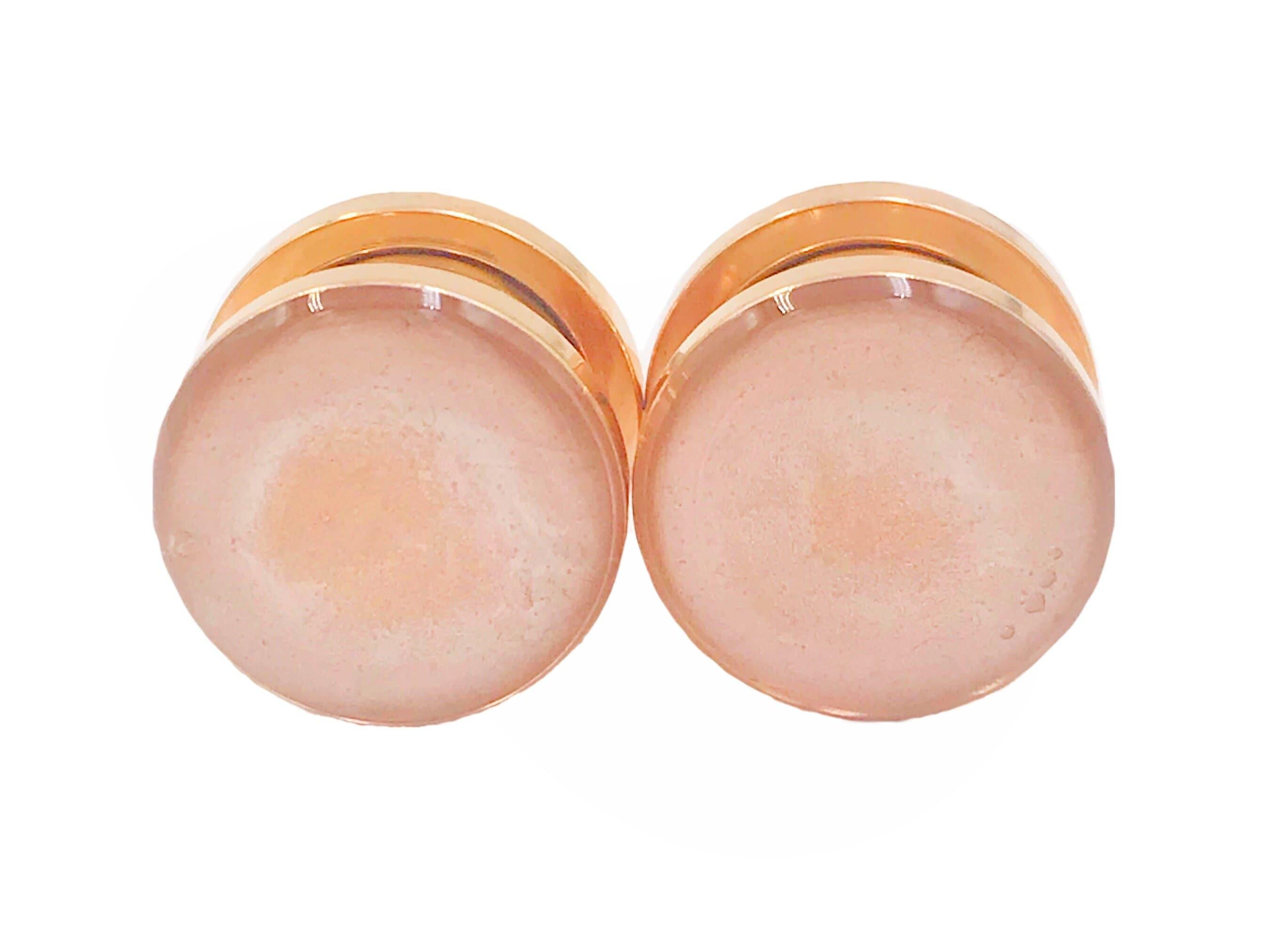 3//4in 4g 1 inch 1//2in 10g 7//16 9//16in 7//8in 2g 5//8in 6g 00g 8g Handmade Frosted Pink Sparkle Plugs 16g 0g