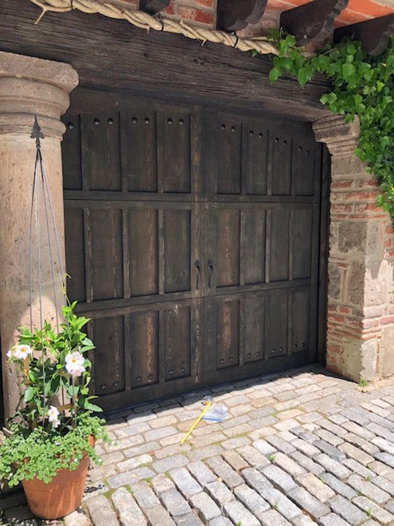 Customizable Cedar Garage Door Etsy