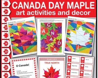 Kids Canada Day 150 Bumper Art & Craft Activity Pack. Canada Day colouring sheets. Maple Leaf, Decorations.Instant pdf download 42 pages