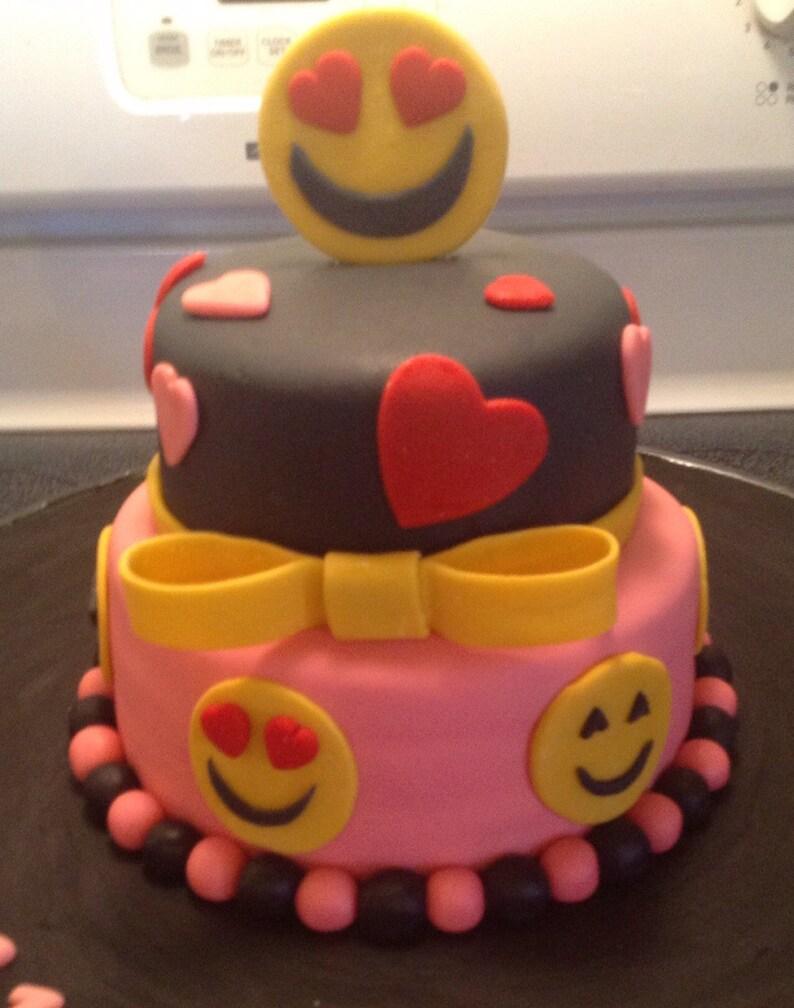 Cake Topper Decorations Emoji Set Birthday