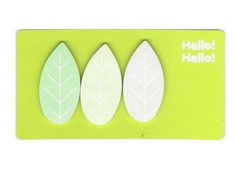 sticky notes leaves