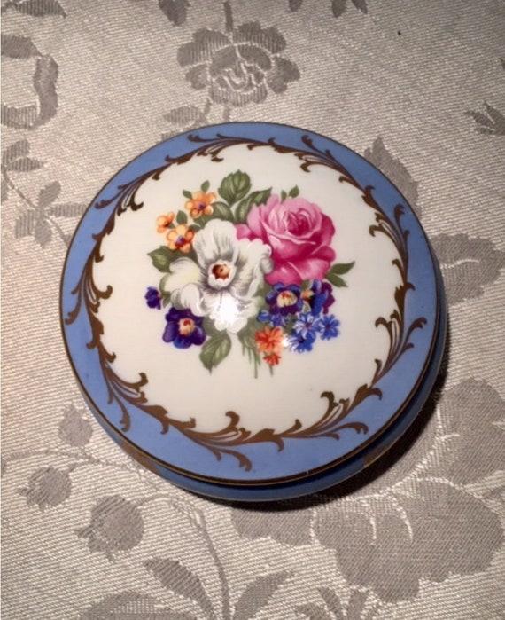 Limoges Ring Box, French Ceramic Trinkets Box, Han
