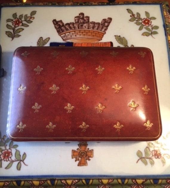 Mens Leather Jewelry Box, Cufflinks Case, Oxblood
