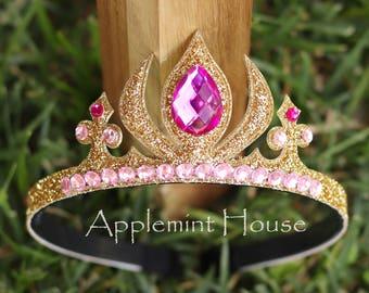 Aurora Crown, Princess Aurora crown, Aurora Tiara,  Sleeping Beauty Crown, Birthday Aurora Crown, Aurora costume crown,  Aurora Headband