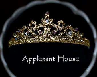 Birthday Girl Crystal Stone Crown,Princess glitter crown,Tiara crown,Party crown,Birthday Crown,Birthday gold crown, birthday crown