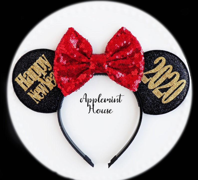 New Years Eve Disney Minnie mouse Ears 2021 New Years eve ...