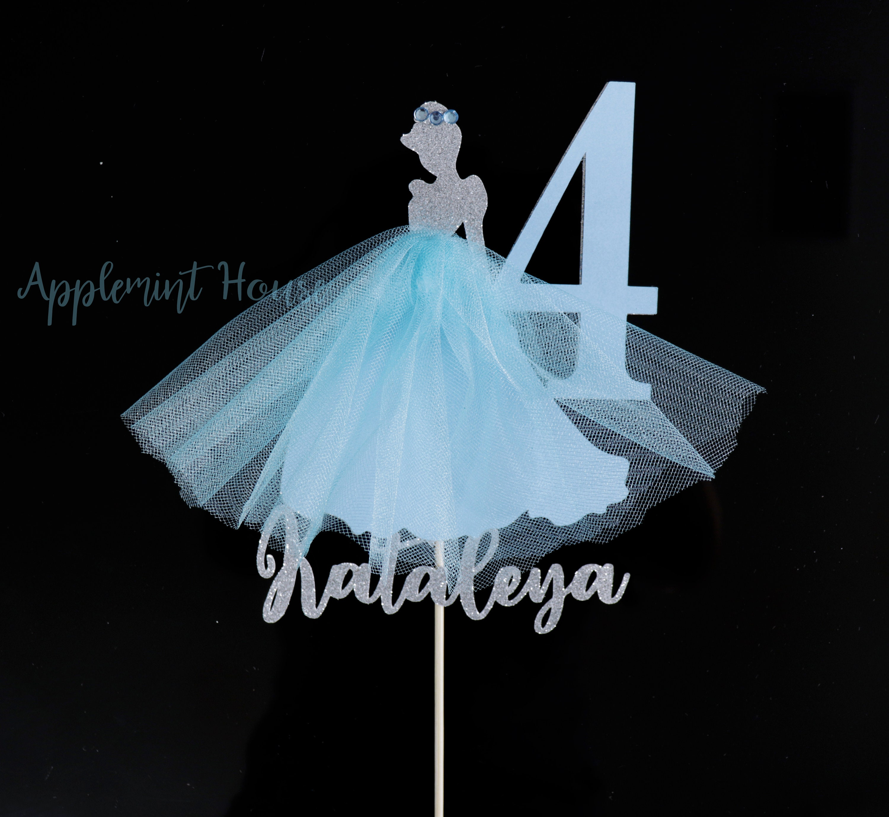 Awesome Cinderella Cake Topper Cinderella Birthday Cake Topper Cinderella Funny Birthday Cards Online Overcheapnameinfo